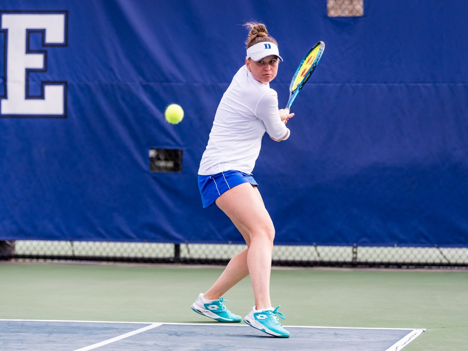Junior Margaryta Bilokin secured her 50th career singles win Saturday.