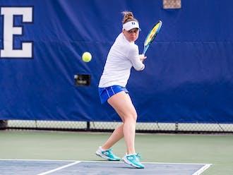 Junior Margaryta Bilokin secured her 50th career singles win Saturday.