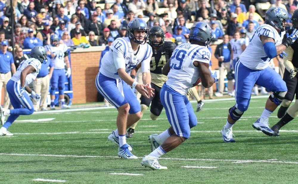 <p>Daniel Jones threw for more than 300 yards and accounted for three touchdowns.</p>