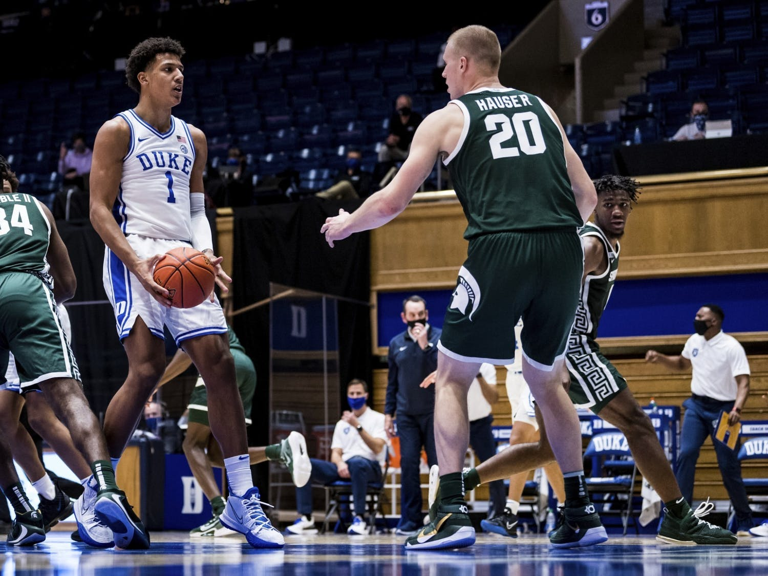 A big storyline for Duke's matchup with Georgia Tech is if Jalen Johnson and Matthew Hurt can play well together.
