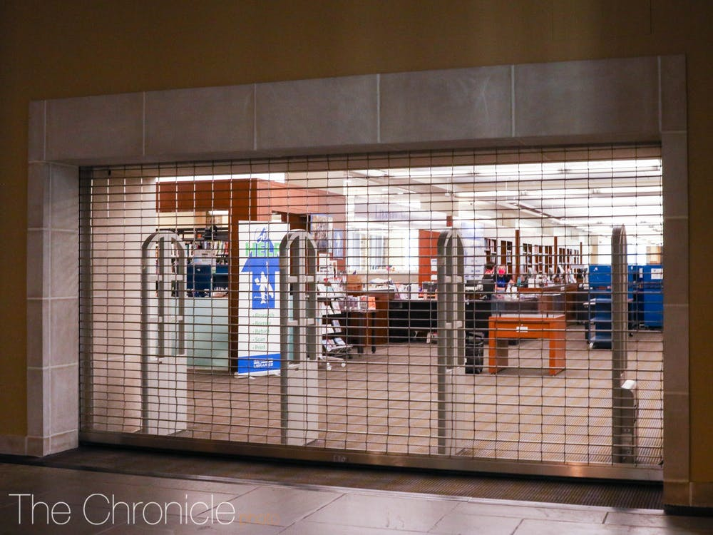 <p>Although many Duke libraries are open this semester, Perkins will be limited to students who have a class in the Link or graduate students who have jobs in the library, said Duke Libraries' director of communications.</p>