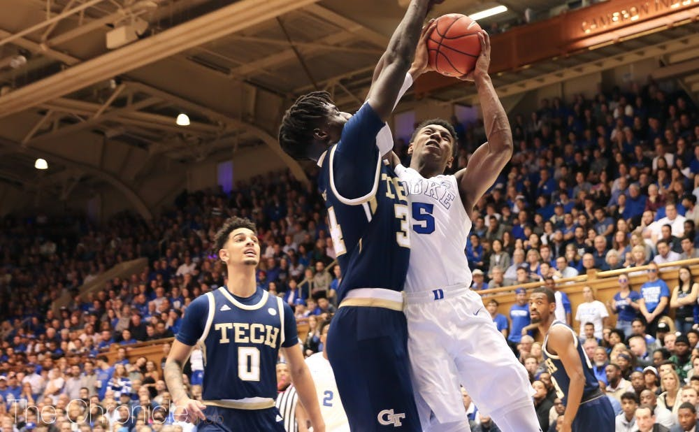 <p>R.J. Barrett has battled offensively, leading Duke in scoring this season with 23.5 points per game.</p>