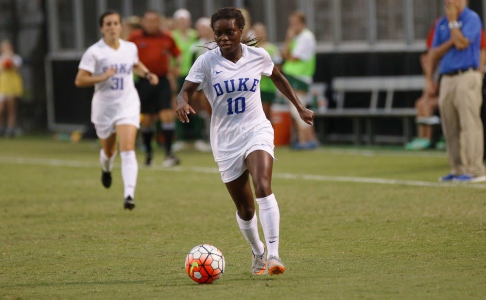 <p>Junior Toni Payne found the back of the net for the first time this season Sunday, putting home a rebound to give Duke an insurance goal.</p>