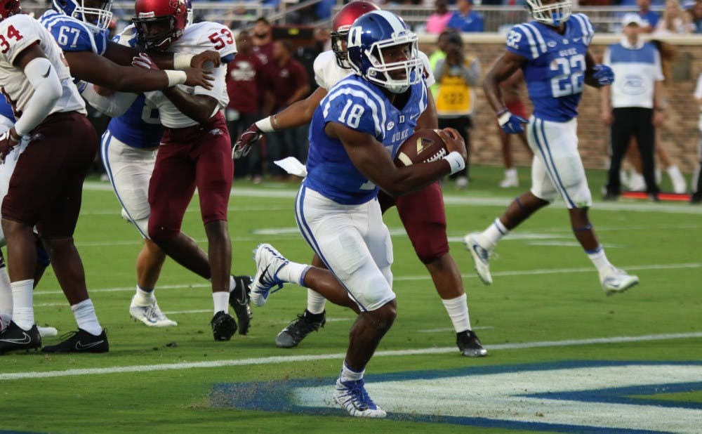 <p>Quentin Harris may not be able to lead an injury-struck Blue Devil team to a bowl game this year.</p>