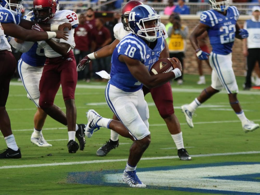 Quentin Harris may not be able to lead an injury-struck Blue Devil team to a bowl game this year.