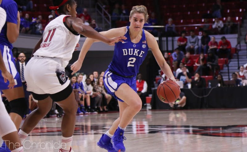 Haley Gorecki helped Duke climb back into the game, sparking a third-quarter run.