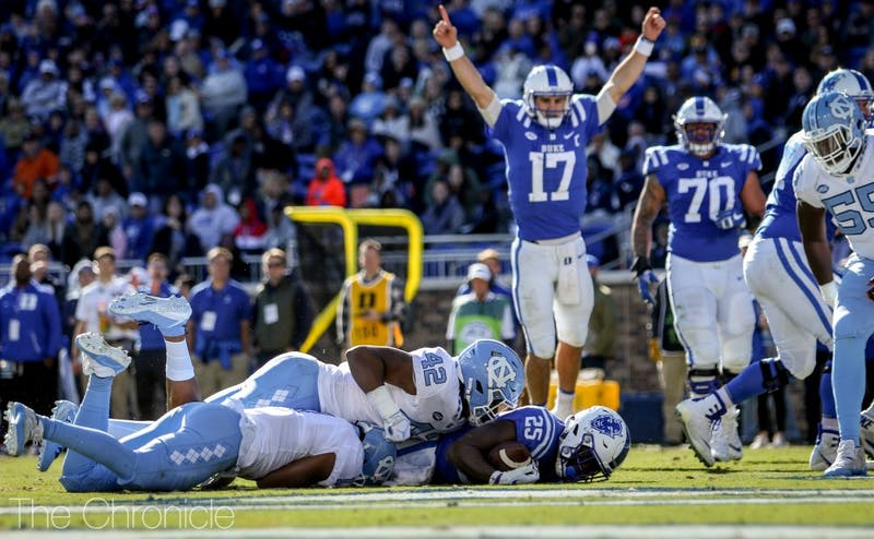 Daniel Jones and Deon Jackson accounted for 264 yards on the ground.