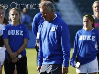Robbie Church is entering his 21st season as head coach of Duke women's soccer.