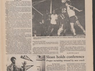 Duke squandered a chance to win its first national title in any sport in 1982, losing in men's soccer to Indiana in eight overtimes.