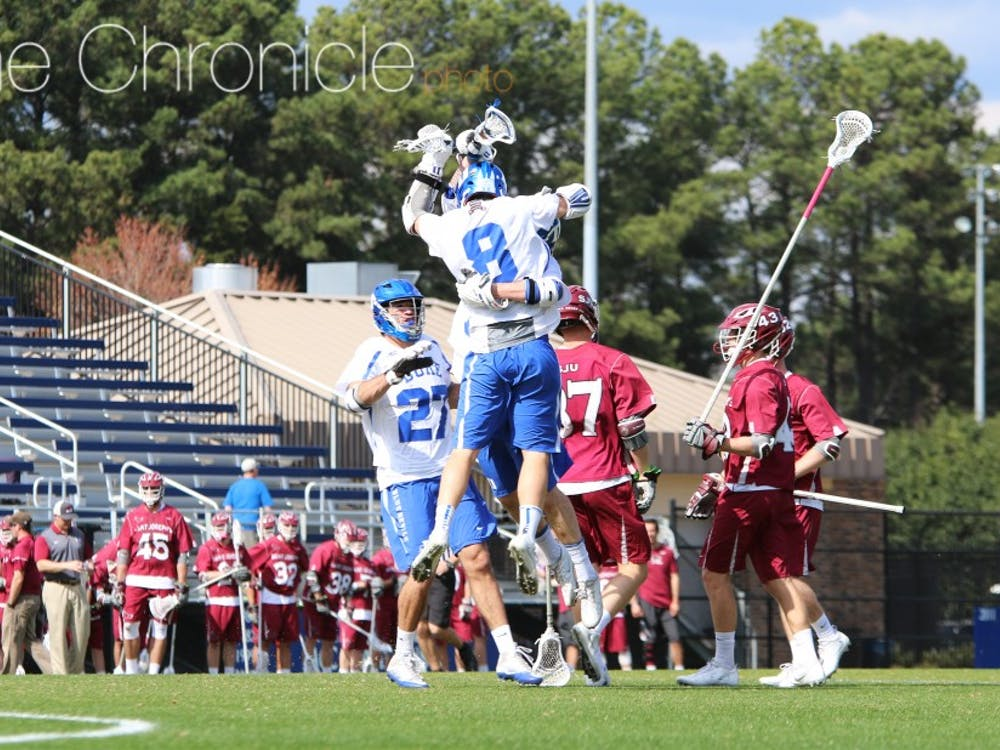 Senior Jack Bruckner posted yet another early-season hat trick Sunday, adding a key fourth-quarter assist as well.