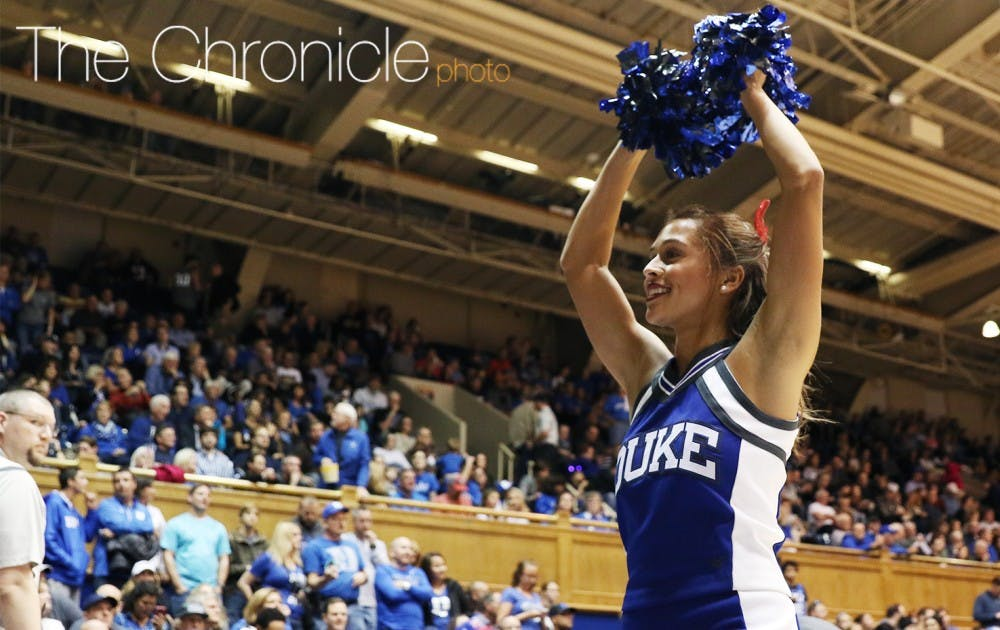<p>Sophomore Sydnei Murphy is expected to be one of Duke's top track and field athletes in the spring and has also been a cheerleader this fall.</p>
