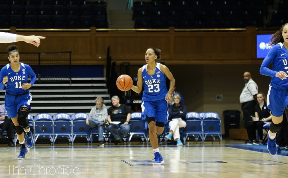 <p>Rayah Craig was one of the few bright spots for the Blue Devils in their opener against Northwestern.</p>