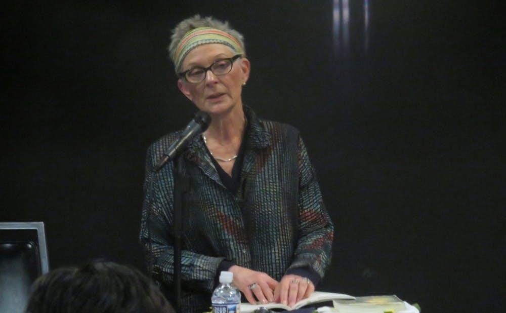 <p>As part of the English department's Blackburn Poetry Series, poet Ann Lauterbach spoke on East Campus last Thursday.</p>