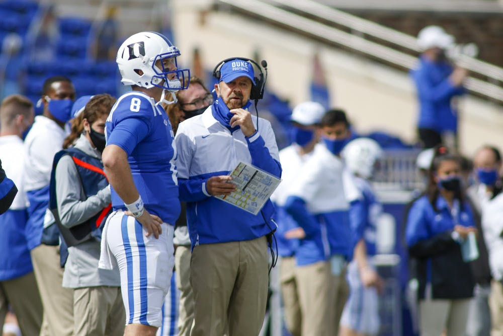 Duke is looking for its first win of the season against an experienced Virginia football team.