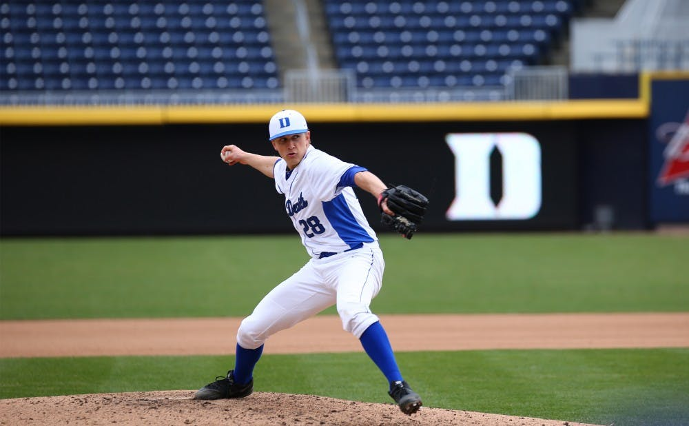 <p>Brian McAfee tossed his second complete game of the season  in Sunday's win, allowing just nine baserunners and striking out six Tigers.</p>
