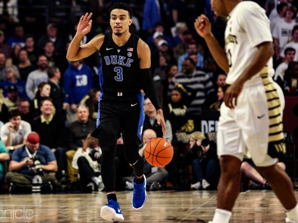 Tre Jones joins Jack White and Javin DeLaurier as captains for the 2019-20 season.
