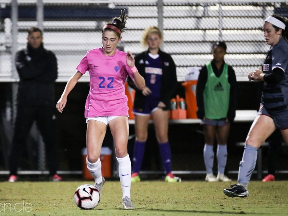 Junior defender Delaney Graham looks to return from injury Sunday and help anchor a strong Duke defense.