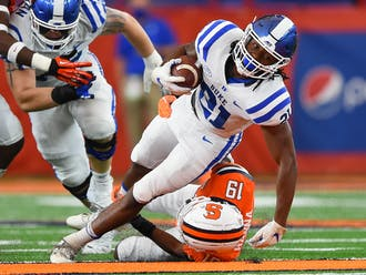 Mateo Durant and the Duke rushing attack will need to get going in the second half against a tough Wolfpack defense.
