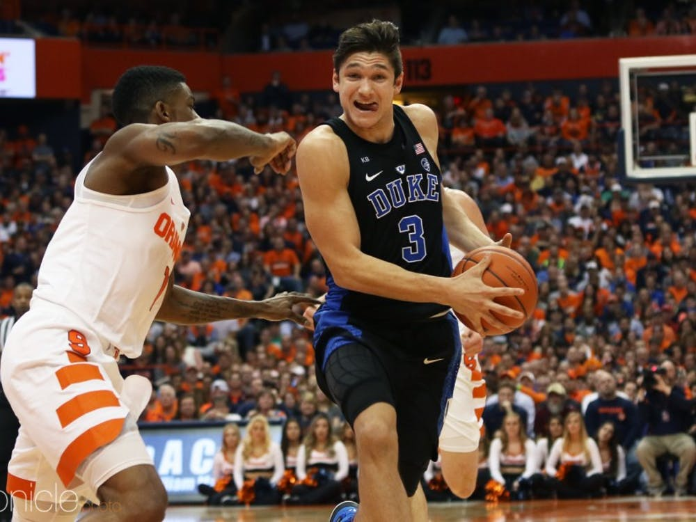 Grayson Allen is the only senior on a young Duke team that will get its first chance to play together in front of the public Friday night.