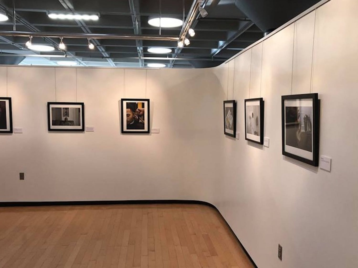 """""""black.,"""" which opened Monday in the Louise Jones Brown Gallery, features photos of black Americans met by senior Evan Nicole Bell."""