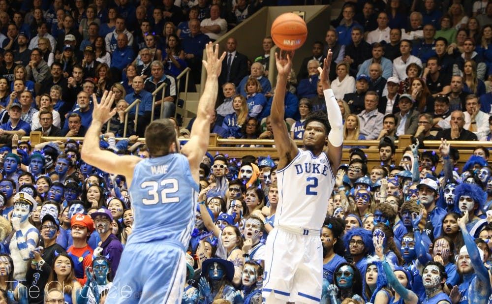 <p>Cam Reddish carried Duke offensively in the first half.</p>