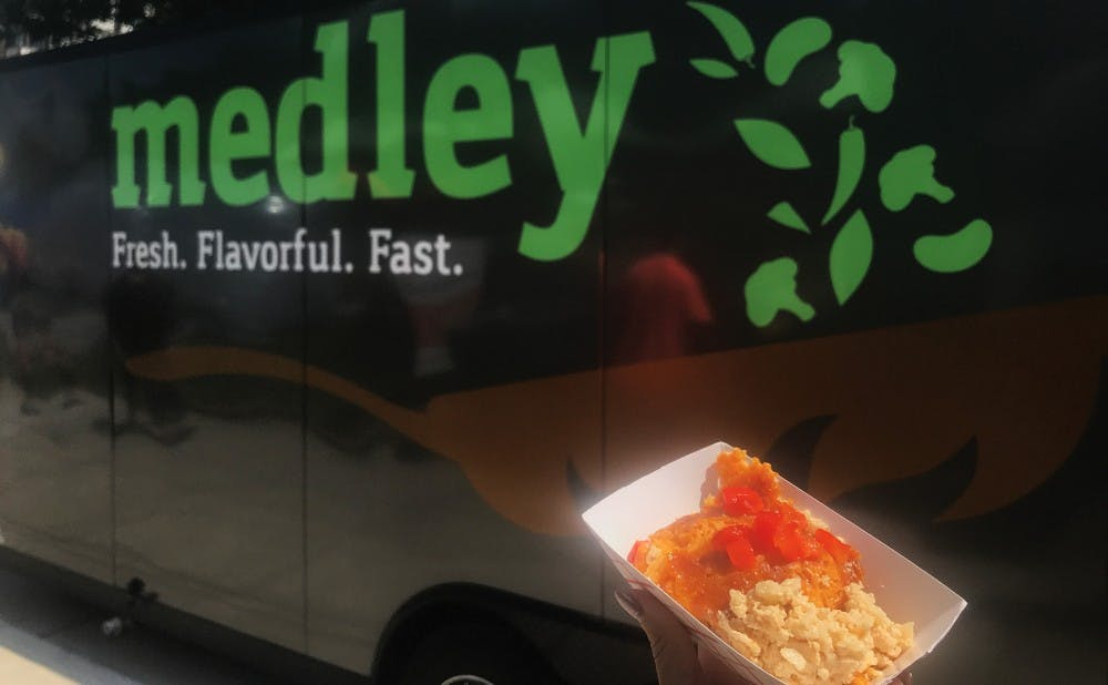 Medley is a healthy food truck, featuring salads, grilled chicken and cauliflower mac n' cheese.