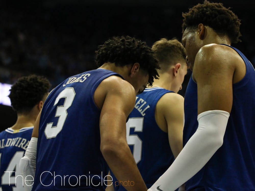 Tonight, Duke played UNC at Dean E. Smith Center in Chapel Hill. A tight game that went into overtime, the Blue Devils gained the lead in the last 4 seconds of the game. The final score was 98-96, with Duke stealing the win.
