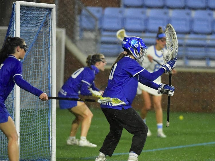 Junior Sophia LeRose recorded a career-high 14 saves, 13 of which came in the second half, against Louisville.