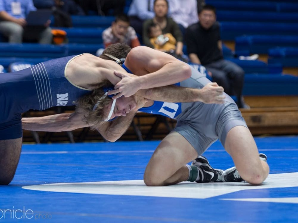 Jeremiah Reitz beat Virginia's Sam Martino for the first dual-match victory of his career.
