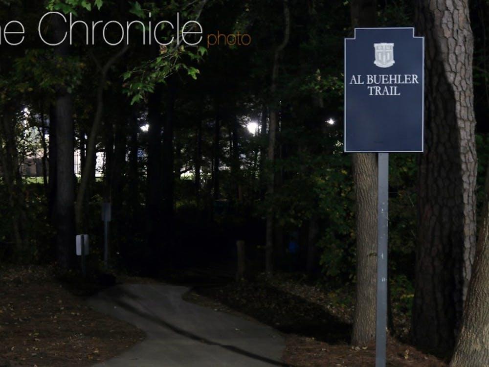 A DukeAlert sent out Sunday said that gunshotswere fired near theAl Buehler Cross Country Trail.