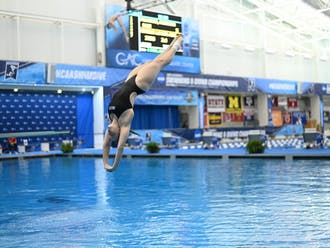 Pullinger finished 15th in the one-meter dive Thursday.