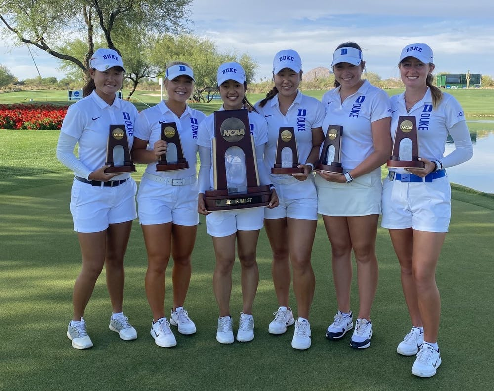 <p>The Blue Devils reached the match play semifinals for the second straight year.&nbsp;</p>