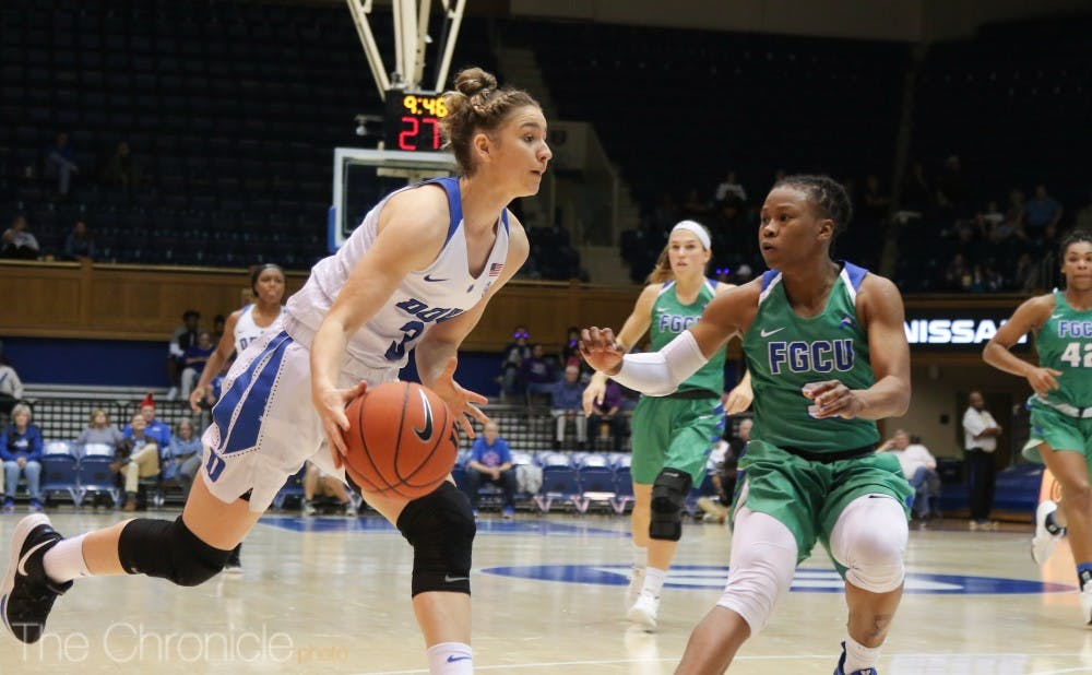 <p>Freshman Miela Goodchild scored 15 points and helped shut down Florida Gulf Coast's guards on the perimeter.</p>