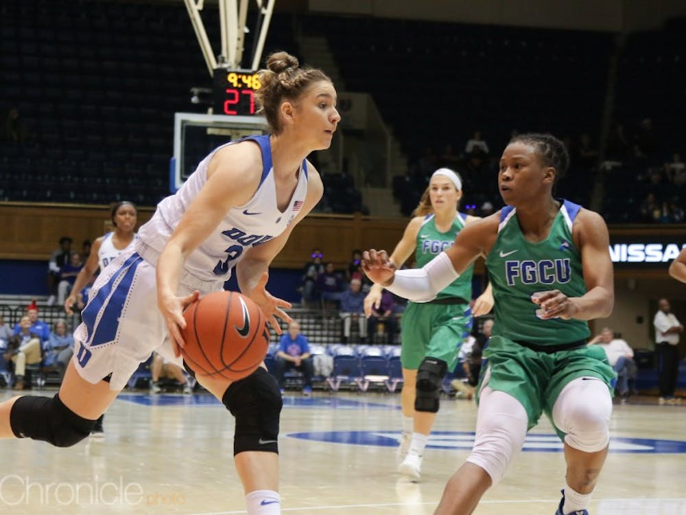 Freshman Miela Goodchild scored 15 points and helped shut down Florida Gulf Coast's guards on the perimeter.