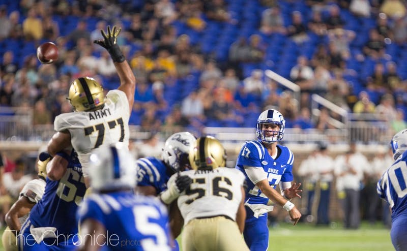 Daniel Jones led the Blue Devils to a 41-17 victory against Northwestern in last year's matchup.