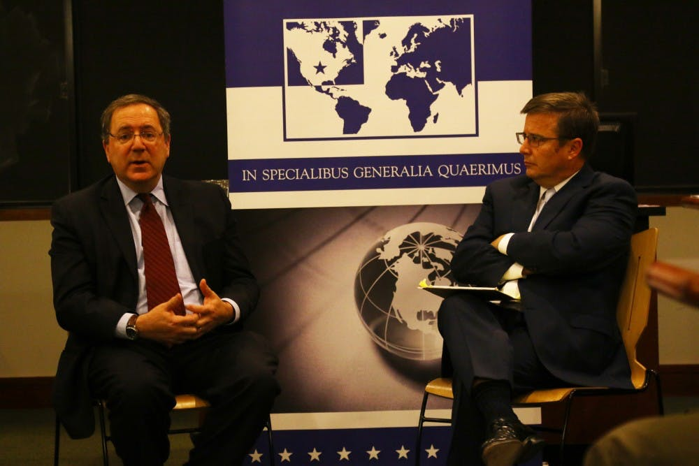 <p>Among the topics Sanger discussed Thursday were the Iran nuclear deal and President Barack Obama's foreign policy decisions regarding Syria.</p>