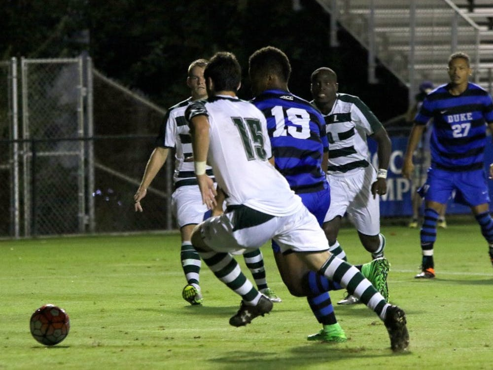 Sophomore Jeremy Ebobisse notched his team-leading fourth goal of the season in the 20th minute against the Greyhounds, helping Duke build a 3-0 lead in the first half.