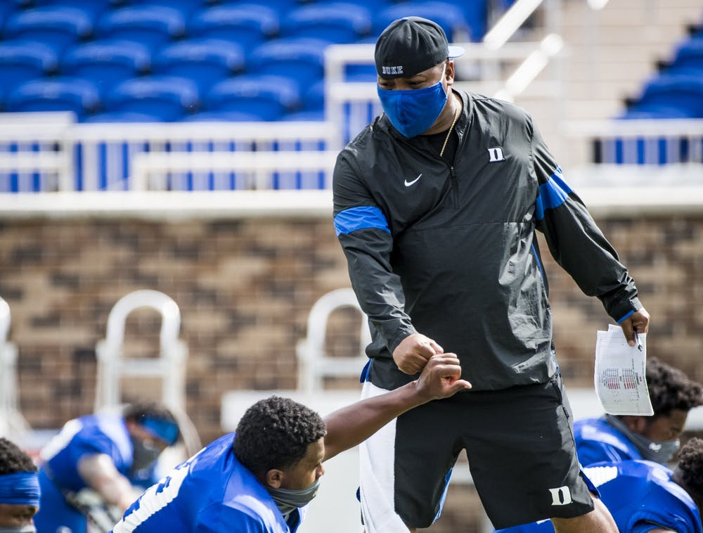 <p>Wide receivers coach Trooper Taylor joined the program in January 2019.</p>