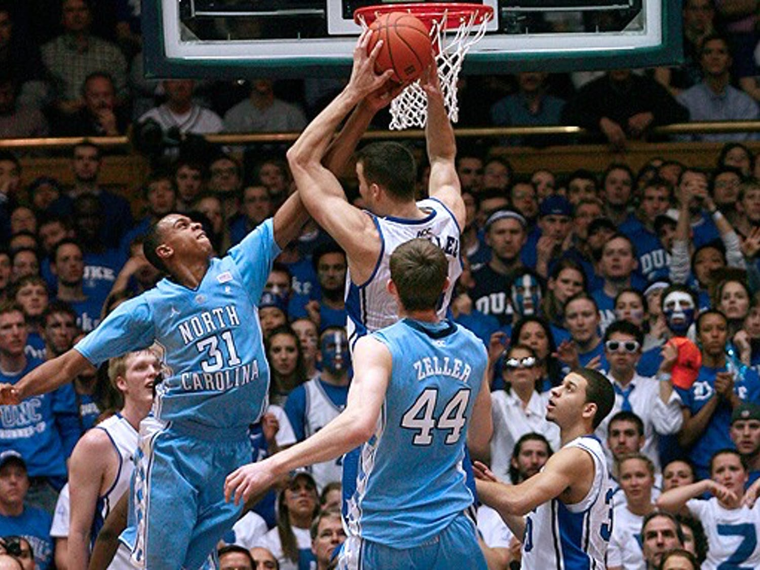 In the first half, John Henson was an offensive and defensive force, but the Blue Devils stopped him in the second.