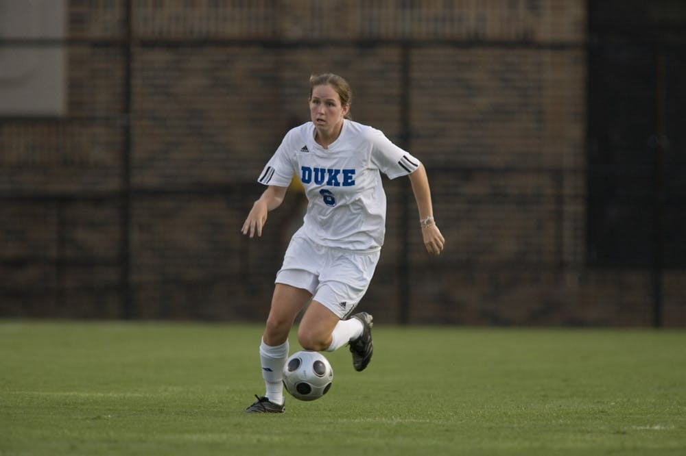 Kelly Hathorn is just one of many former Duke women's soccer players whose careers have brought them on the frontline of the coronavirus pandemic.