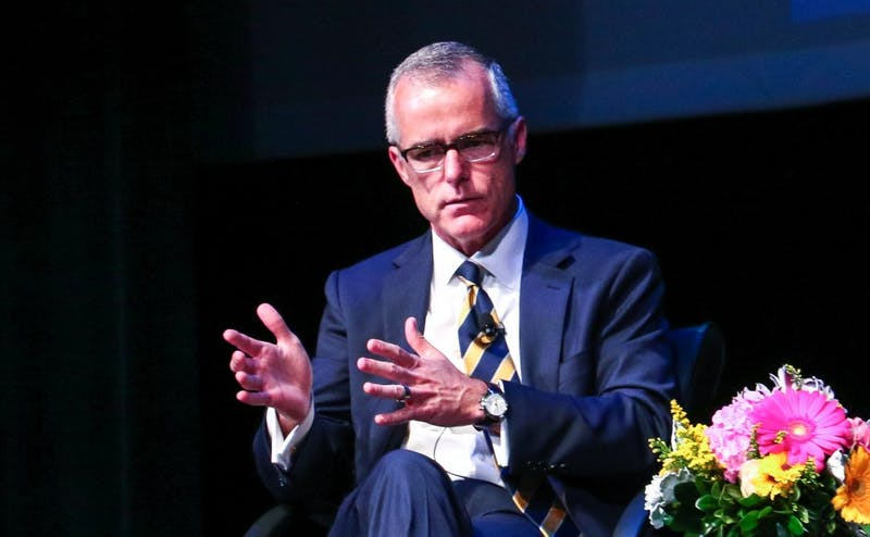 Andrew McCabe is a Duke alumnus and the former deputy director of the FBI.