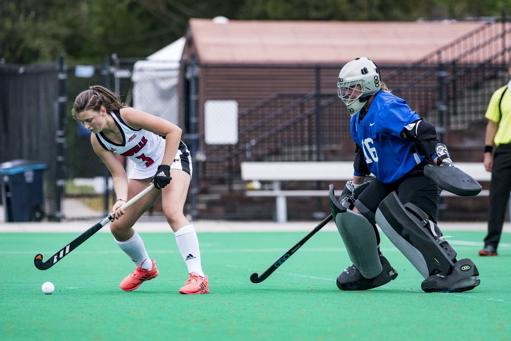 Duke goalkeeper Piper Hampsch recorded seven saves Friday, but the Blue Devils were unable to score.