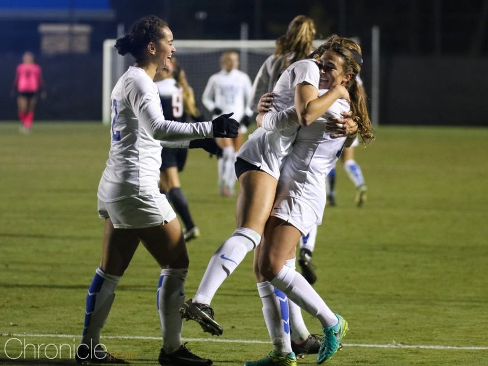 Duke had plenty to celebrate Friday night, scoring a program-record seven goals in an NCAA tournament game to rout Oklahoma State.