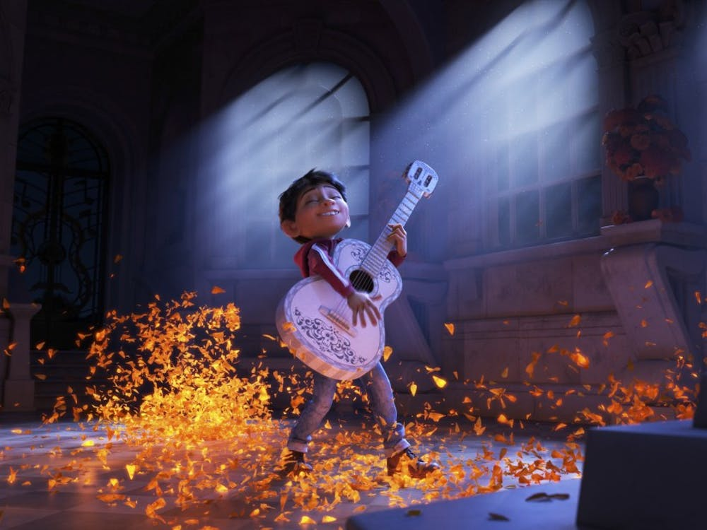 "Pixar's latest feature, ""Coco,"" follows a boy named Miguel who wants to become a musician despite his family's generations-old ban on music."