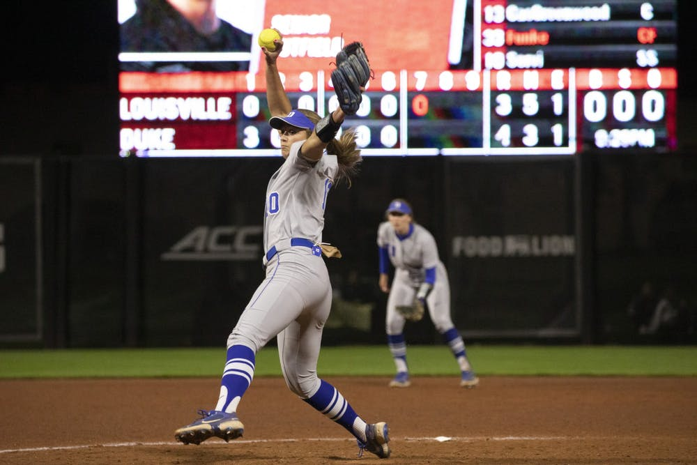 <p>Peyton St. George tossed 5.2 innings of scoreless relief in Thursday's contest against Louisville.</p>