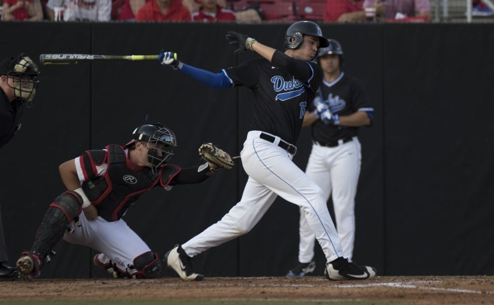 <p>Sophomore Michael Smiciklas drove in the go-ahead run in the top of the ninth inning Sunday afternoon to help Duke salvage the final game of a three-game series.</p>
