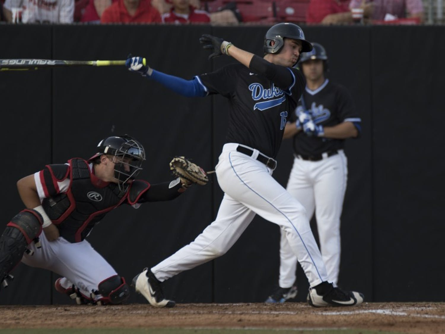 Sophomore Michael Smiciklas drove in the go-ahead run in the top of the ninth inning Sunday afternoon to help Duke salvage the final game of a three-game series.