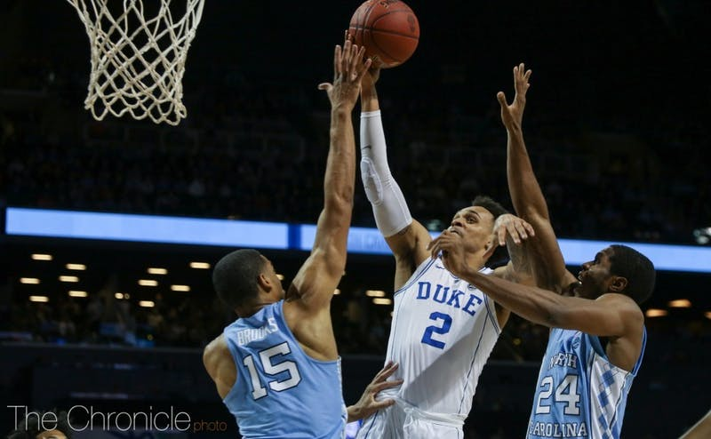 Duke was outplayed by the Tar Heels in the paint Friday night.