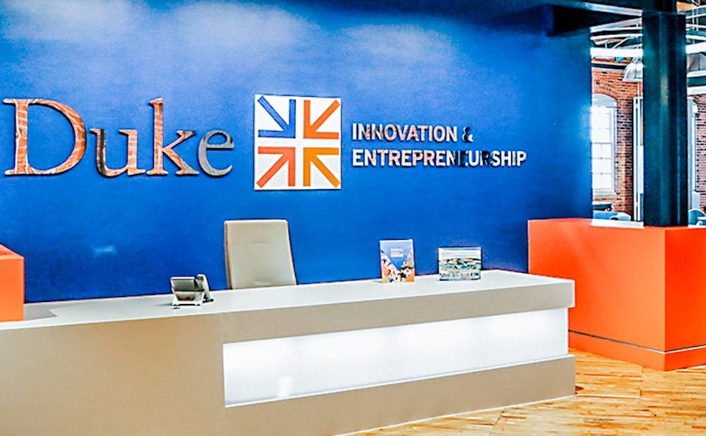 <p>At Duke, the Innovation and Entrepreneurship Initiative's Bullpen provides a space for entrepreneurs to meet and share ideas.</p>
