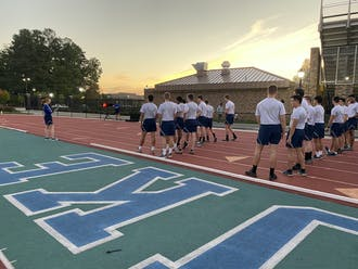 Every week, ROTC students wake up as early as 5 a.m. to start working out by 6 a.m.